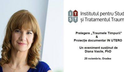 """Prelegere """"Traumele timpurii"""" si proiectie IN UTERO – 20 noiembrie, Oradea"""