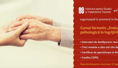 """Curs formativ """"Evaluarea si asistarea psihologica in ingrijirile paliative"""" – Modulul 5"""