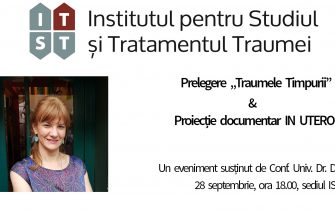 "Prelegere ""Traumele timpurii"" & Proiectie documentar IN UTERO – 28 septembrie 2017"