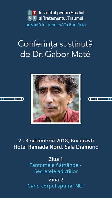 Conferinta Dr. Gabor Mate